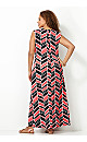 Abstract Knot Front Maxi Dress