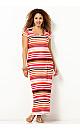 Sunset Striped Maxi Dress