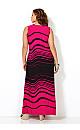 Wave Stripe Maxi Dress