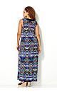 Purple Geo Maxi Dress
