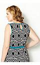 Aztec Turquoise Trim Maxi Dress