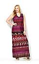 Aztec Striped Maxi Dress