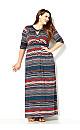 Aztec Twist Maxi Dress