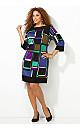 Geometric Printed Sheath Dress