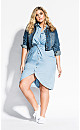 Chambray Twist Dress - chambray