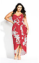Lotus Maxi Dress - raspberry