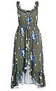 Tamika Floral Maxi Dress - khaki