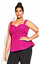 Women's Plus Size All Class Top - pink