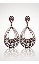 Diamond Cutout Drop Earrings