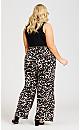 Plus Size Black And Leopard Jumpsuit - tan