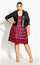Plus Size So Fancy Crochet Fit & Flare Dress - fuchsia