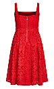 Plus Size Jackie O Dress - red
