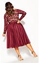 Plus Size Rare Beauty Dress - merlot