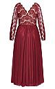 Rare Beauty Maxi Dress - merlot