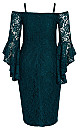 Mystic Lace Dress - emerald