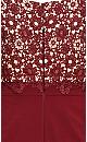 Lace Glamour Dress - cherry