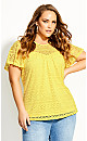Serenity Sleeved Top - buttercup