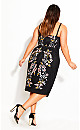 Softly Embroidered Dress - black