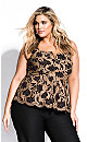 Women's Plus Size Lace Harmony Top - black