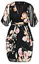 Tuscan Rose Dress - black