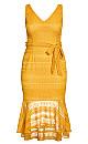 Simmer Lace Dress - amber