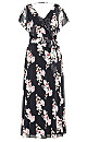 Sacred Lotus Maxi Dress - black