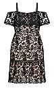 Women's Plus Size Dream Of Lace Dress - black