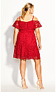 Women's Plus Size Dream Of Lace Dress - scarlet