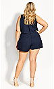 Tiered Playsuit - navy