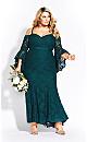 Women's Plus Size Mesmerise Maxi Dress - emerald
