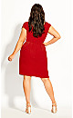 Classic Wrap Dress - red