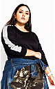 Plus Size Time Out Jumper - black