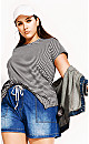 Plus Size Relaxed Tee - ivory