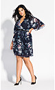 Mysterious Floral Dress - navy