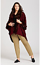 Plus Size Red Fur Cape - red
