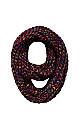 Plus Size Chevron Multicolor Knit Black Infinity Scarf