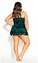 Stella Satin Chemise - emerald