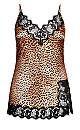 Stella Satin Chemise - leopard