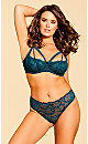 Plus Size Eve Strappy Panty - Emerald