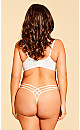 Eve Lace Strappy Thong - Ivory
