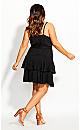 Mini Frill Dress - black