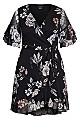 Boudoir Floral Dress - black