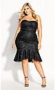 Vine Embroidery Dress - black