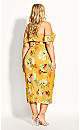 Golden Flutter Dress - gold
