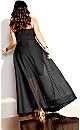Plus Size Textured Bella Maxi Dress - black