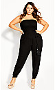 Shirred Fun Jumpsuit - black