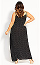 Confetti V Maxi Dress - black
