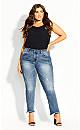 Plus Size Harley Crop Skinny Jean - indigo