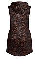 Animal Hoodie Dress - chocolate