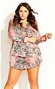 Plus Size Pia Pj Print Top - blush